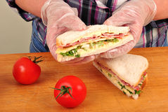 Sandwich with cheese and bacon Stock Images