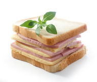 Sandwich with cheese and ham Stock Photo