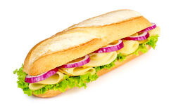 Sandwich with cheese, lettuce and onion Royalty Free Stock Photos