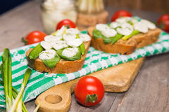 Sandwich with cheese Royalty Free Stock Images