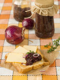 Sandwich with cheese and onions candy Royalty Free Stock Photo