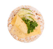 Sandwich with cheese and parsley Stock Photography