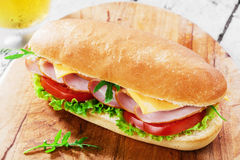 Sandwich with cheese and tomatoes Stock Photos