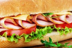 Sandwich with cheese and tomatoes Stock Images