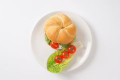 Sandwich with cheese and vegetables Royalty Free Stock Photos