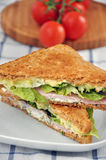 Sandwich with cherry tomatoes. Royalty Free Stock Image