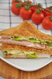 Sandwich with cherry tomatoes. Royalty Free Stock Photography