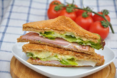 Sandwich with cherry tomatoes. Stock Image