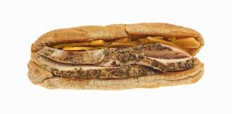 Sandwich chevronné à poulet et à fromage photographie stock