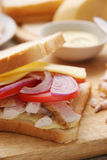 Sandwich with chicken. Royalty Free Stock Photo