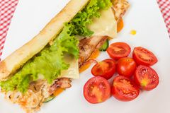 Sandwich with chicken and bacon. Stock Photography