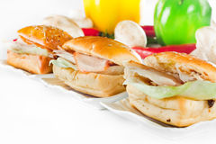 Sandwich with chicken insede Stock Image