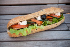 Sandwich with chicken and salad Royalty Free Stock Image