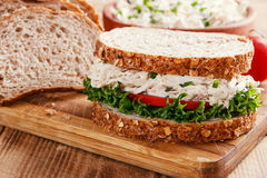Sandwich with chicken salad tomato Royalty Free Stock Photos