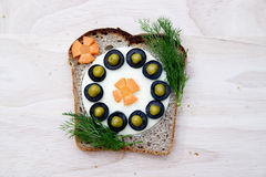 Sandwich for children Royalty Free Stock Photography