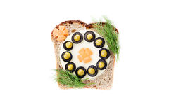 Sandwich for children Royalty Free Stock Photos