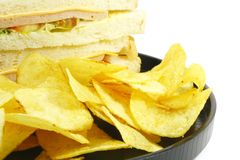 Sandwich and Chips Meal Combo Royalty Free Stock Photography