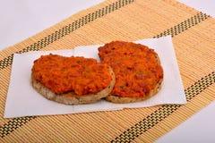 Sandwich with chutney, ajvar Stock Photography
