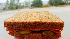 Sandwich. A classical lunch time sandwich Stock Images