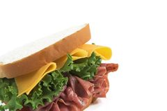Sandwich close up Stock Images