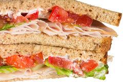 Sandwich close-up Stock Photography