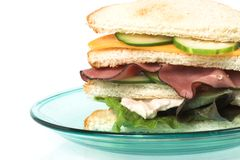 Sandwich close up Royalty Free Stock Image