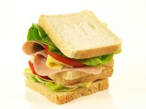 Sandwich, close-up, isolated Stock Photo