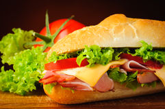 Sandwich closeup detail Stock Photography