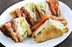 Sandwich à club Photos libres de droits