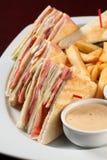 Sandwich à club Image libre de droits