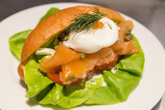 Sandwich club de saumon Gravlax Stock Photos