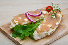 Sandwich with cod roe Royalty Free Stock Photo