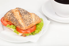 Sandwich and coffee Royalty Free Stock Image