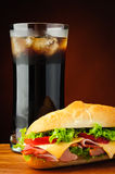 Sandwich and cola Stock Images
