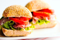 Sandwich with cold cuts Stock Images