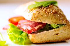 Sandwich with cold cuts Stock Photo
