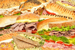 Sandwich Collage Royalty Free Stock Images