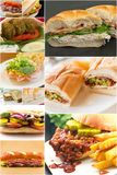 Sandwich Collage Royalty Free Stock Photos