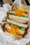 Sandwich complet à pain grillé images stock
