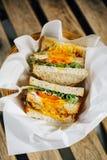 Sandwich complet à pain grillé photo libre de droits