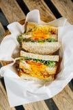 Sandwich complet à pain grillé photographie stock libre de droits