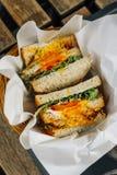 Sandwich complet à pain grillé photo stock