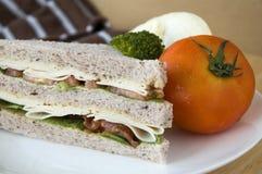 Sandwich con il pomodoro Immagine Stock Libera da Diritti
