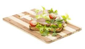 Sandwich con il prosciutto Fotografie Stock Libere da Diritti