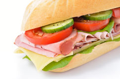 Sandwich with cooked ham Royalty Free Stock Images