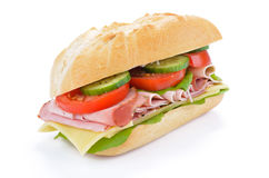 Sandwich with cooked ham Royalty Free Stock Photos