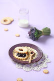 Sandwich Cookie with Blueberry Jam Stock Images