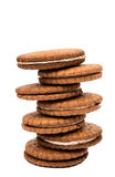 Sandwich cookies isolated. On white background Stock Photography