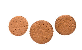 Sandwich cookies isolated. On white background Royalty Free Stock Images