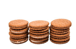Sandwich cookies isolated. On white background Stock Image